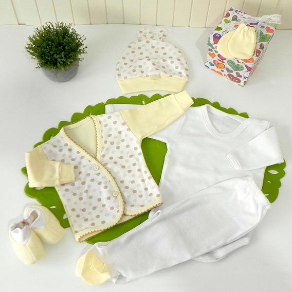 Caja Nº5 Ajuar Bebé Nacimiento 6 Pz Babyshower Cloe