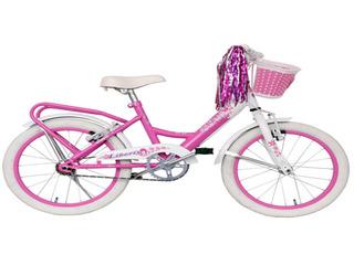Bicicleta Nena Sasha Paseo Rodado 16 + Canasto Portamuñecas