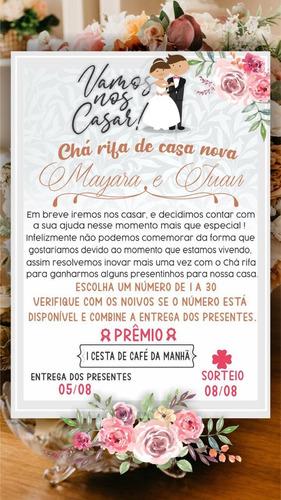 Convite Chá Rifa De Casa Nova.