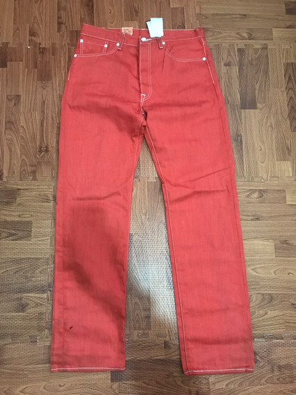 Pantalon Levis 501 Original Nuevo ,naranja Talla 34x34ver De