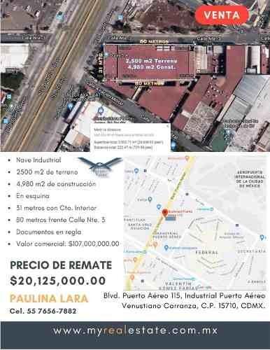 Nave Industrial De Remate Bancario $20,125,000.00 Pesos.