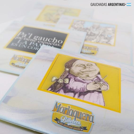 Souvenir/regalo Argentino. 4 Billetersa De Diseño .