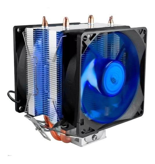 Cooler Duplo Dual Fan Universal Cpu Pc Intel Amd 775 1150 1151 I7 Am3+ Am2+ Am4 Ryzen