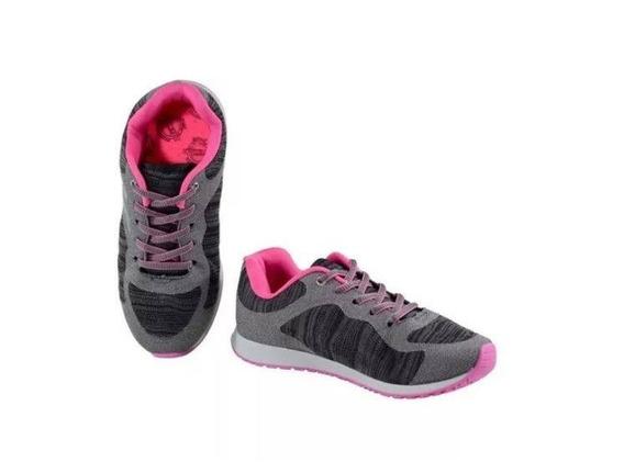 Tenis Infantil Feminino Kidy 2194 Grafite/preto/pink