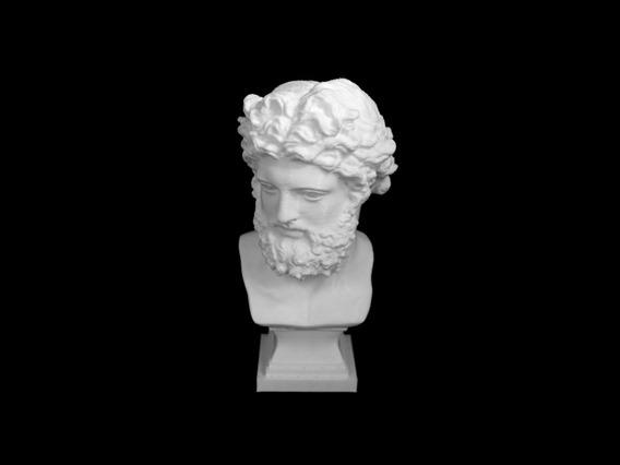 Escultura Busto Zeus 20 Cm