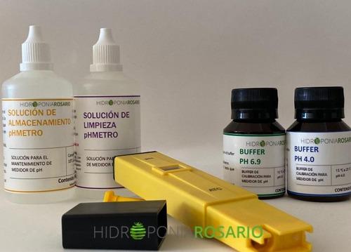 Imagen 1 de 1 de Combo Phmetro + Soluciones De Calibración, Limpieza Y Almace