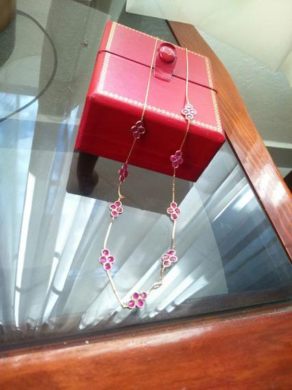Lindo Collar Con Rubies.