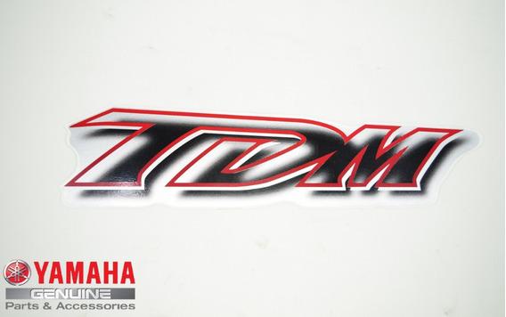 Emblema Aba Do Tanque Tdm 850 2000 Prata Original Yamaha