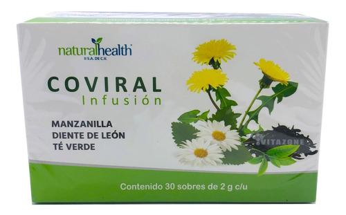 Imagen 1 de 2 de Té Manzanilla, Té Verde Y Diente De Leon 30 Sobres Coviral
