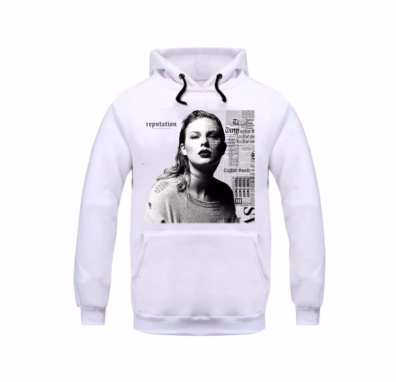 Blusa Moletom Taylor Swift Reputation Cantora Pop Unissex
