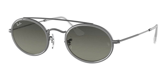 Ray-ban Oval Double Brigde Rb3847n 004/71 52 - Grafite/cinza