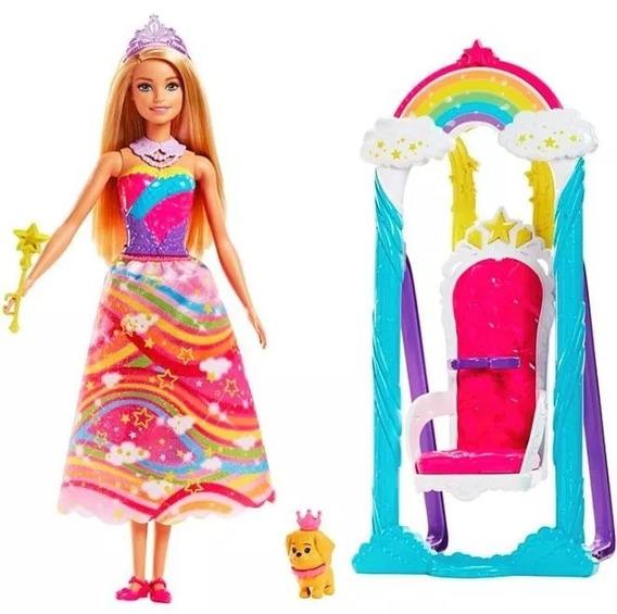 Barbie Dreamtopia Balanço Trono Arco Iris - Mattel