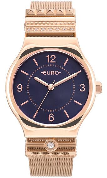 Relogio Euro Feminino Eu2035ynj/4t Rose Azul Ofertq
