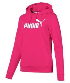 Blusa Puma Moletom Ess Logo Hoody Feminina - Original