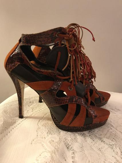 Sandalias Plataforma Zara Con Flecos