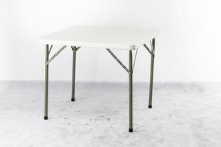 Mesa Plegable Reforzada Hogar/camping 86x86x74cm Blanca