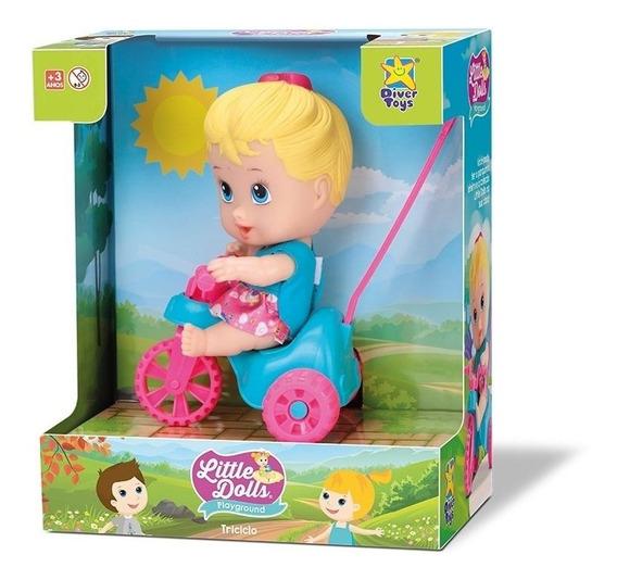Little Dolls Triciclo Menina 8110 - Divertoys