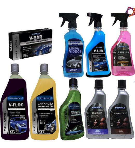 V Floc Lava Autos Concentrado Vonixx + Kit Vonixx
