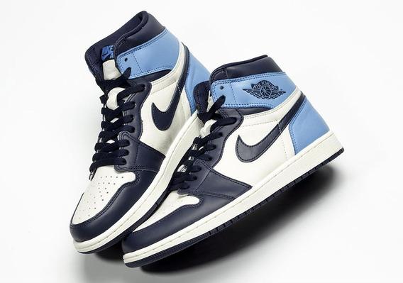 Tenis Para Baloncesto Nike Air Jordan 1 Og Unc Obsidian 7