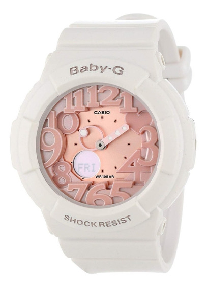 Casio Baby-g Bga131-7b2 Mujeres Digital Rose Gold & White Re