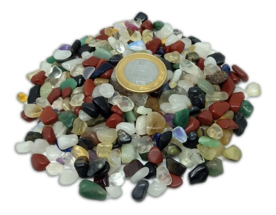 1kg Cascalho Pedra Rolada Natural Sortida Mista Artesanato