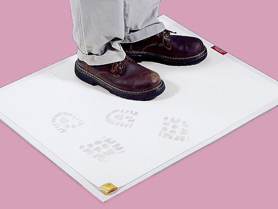 Tapete Blanco Con Marco Cuarto Limpio O Laboratorio 45x91 Cm
