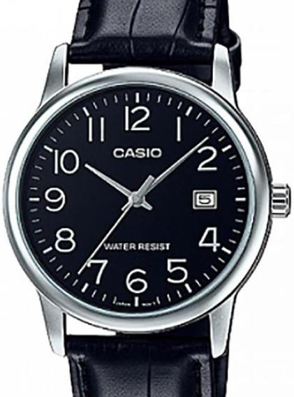 Relógio Casio Masculino Classico Couro - Mtp-v002l-1budf-br