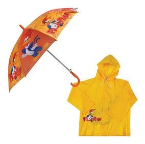 Kit Capa De Chuva + Guarda-chuva Pica-pau