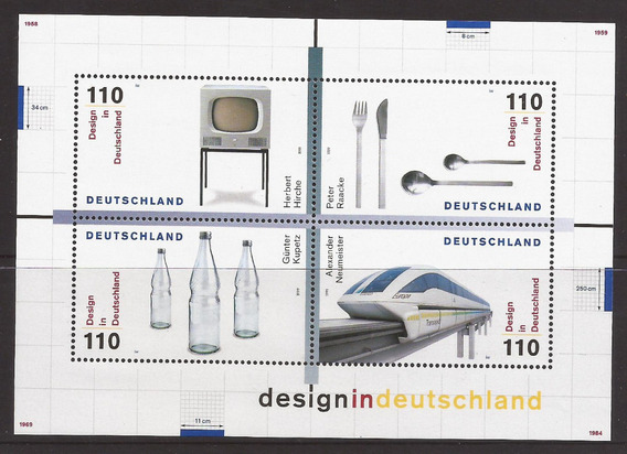 Alemania 1999 Bloque Diseños De Alemania Mint - 176