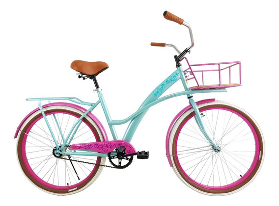 Bicicleta Urbana Aruba Canasta Salpicadera Portabulto Rod 26