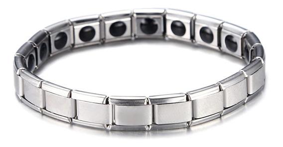 Pulseira Bracelete Magnética Aço Elástica Equilíbrio Co.55