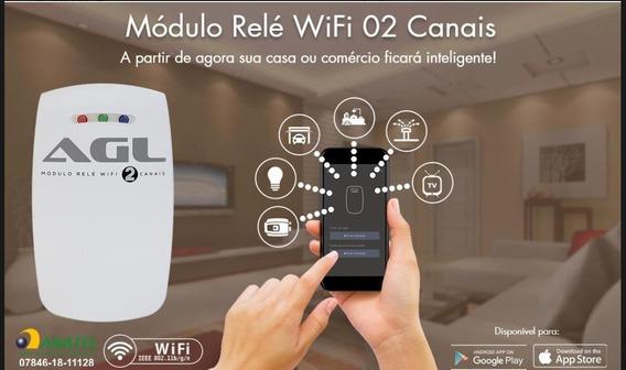 Modulo Acionador Relé Agl Wifi 2 Canais