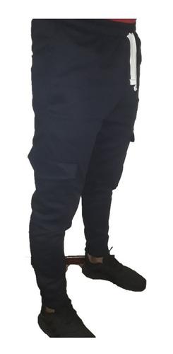 Pantalon Cargo Jogger Gabardina Elastizada