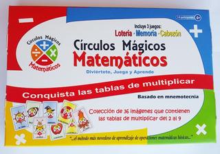 Juego De Tablas De Multiplicar Círculos Mágicos Matemáticos