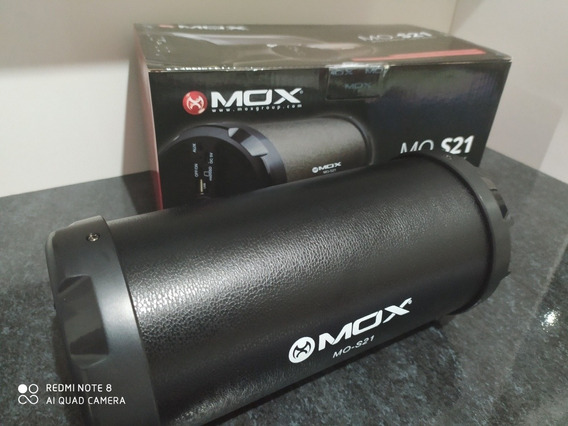 Caixa De Som Mox-s21 Bateria Bluetooth Usb Sd Auxiliar Fm