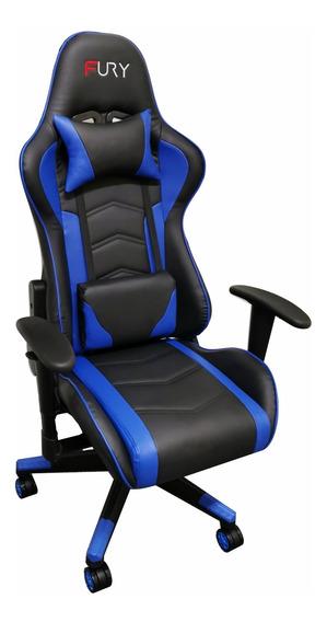 Cadeira Gamer Fury 7003 - Braço Ajustável, Reclinável 180º