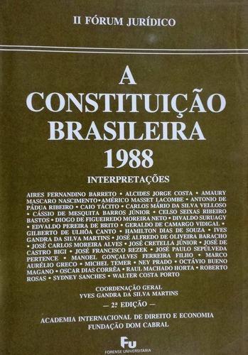 Imagem 1 de 1 de Livro Raro: A Constituição Brasileira 1988 + Brinde