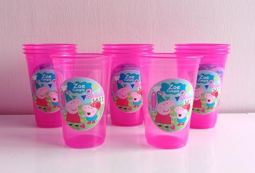 Vasos Pepa Pig Descartables  Personalizados