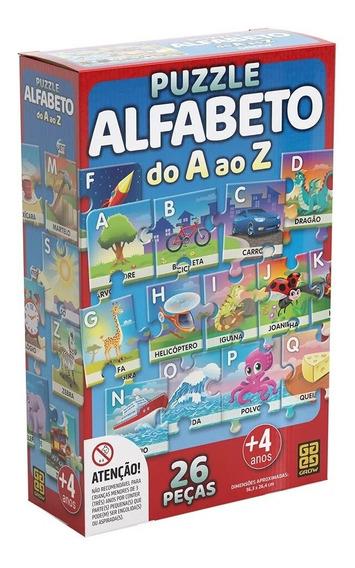 Puzzle 26 Peças Alfabeto Do A Ao Z - Grow