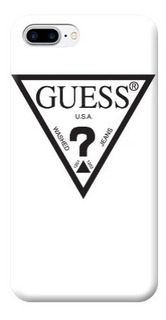 Funda Case iPhone 5 6 7 8 X Plus Guess Logo Negro Blanco