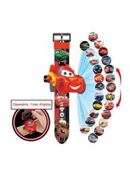 Relógio Brinquedo Infantil Cars Projeta 24 Imagens
