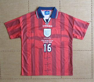 Camisa Original Inglaterra 1998 Away #16 Paul Scholes