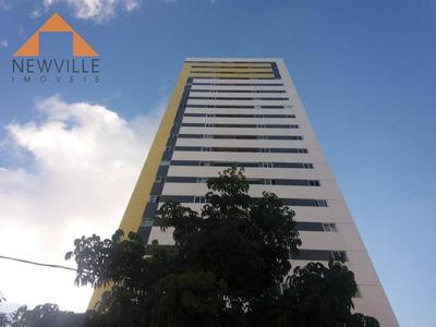 Apartamento Novo Nunca Habitado Com 3 Dormitórios À Venda, 63 M² Por R$ 390.000 - Torre - Recife/pe - Ap1457