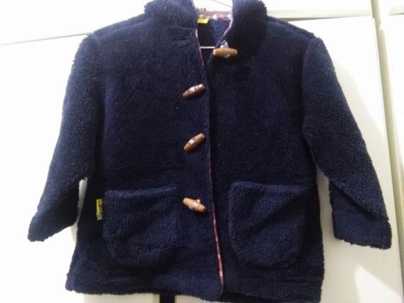 Casaco Infantil Unissex Azul Marinho Pelúcia Puc 2