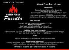 Servicio Catering Asado, Bebida Libre,manteleria Y Vajilla.