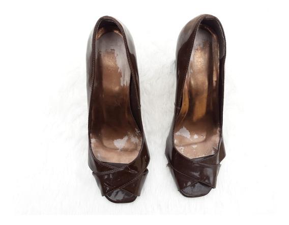 Sapato Verniz Marrom