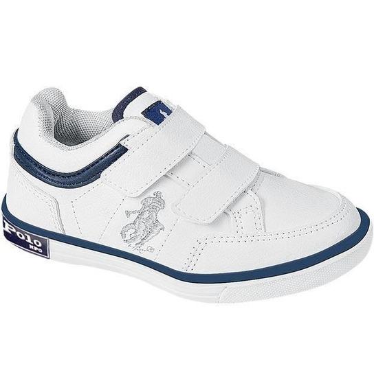 Tenis Escolar Marca Hpc Polo Mod 020 Blanco/azul