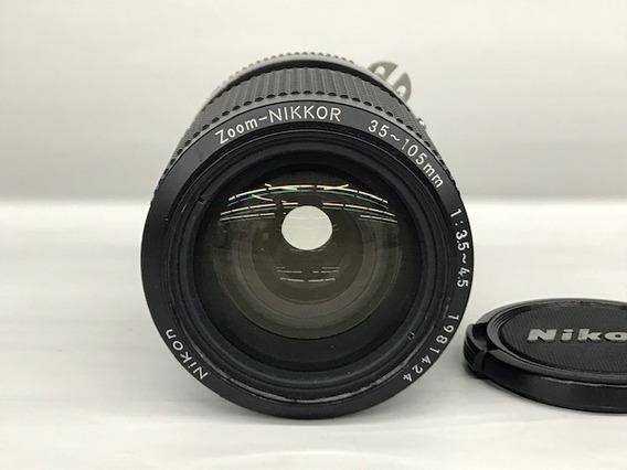 Lente Nikon Zoom Nikkor 35~105 1:3.5-4.5 Ais(analógica).