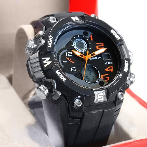 Relógio Speedo Masculino Digital Preto Prova D'água