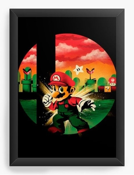 Quadro Decorativo Geekz Super Mario